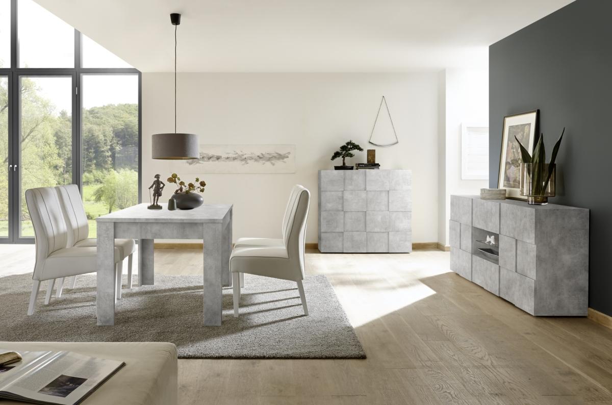 Designerska komoda włoska z efektem betonu