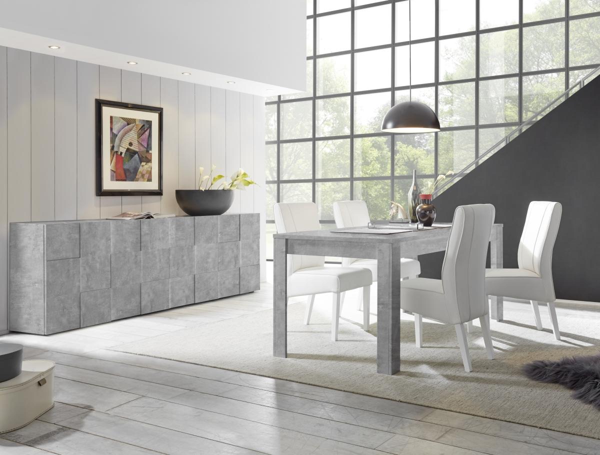Włoskie meble do salonu Dama z efektem betonu