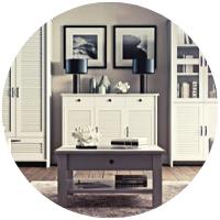 Orient - stylowe meble do salonu w kolorze białym
