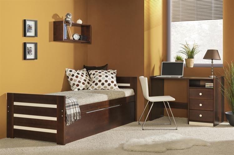 Drewniane łóżko Młodzieżowe Dolmar Meble Dawid Z Podwójnym Spaniem 90x200cm