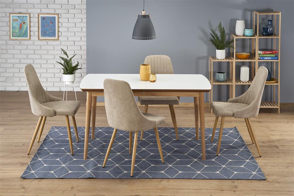 Drewniany stół Ctober na prostych nogach
