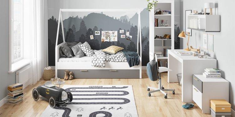Łóżko dziecięce z szulfadą 90x200 cm