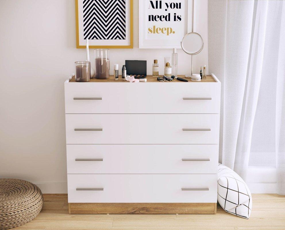 Biała komoda do sypialni Dentro