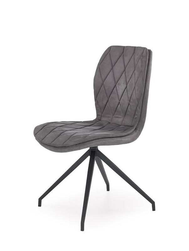 tapicerowane krzesło Levin z szarym siedziskiem