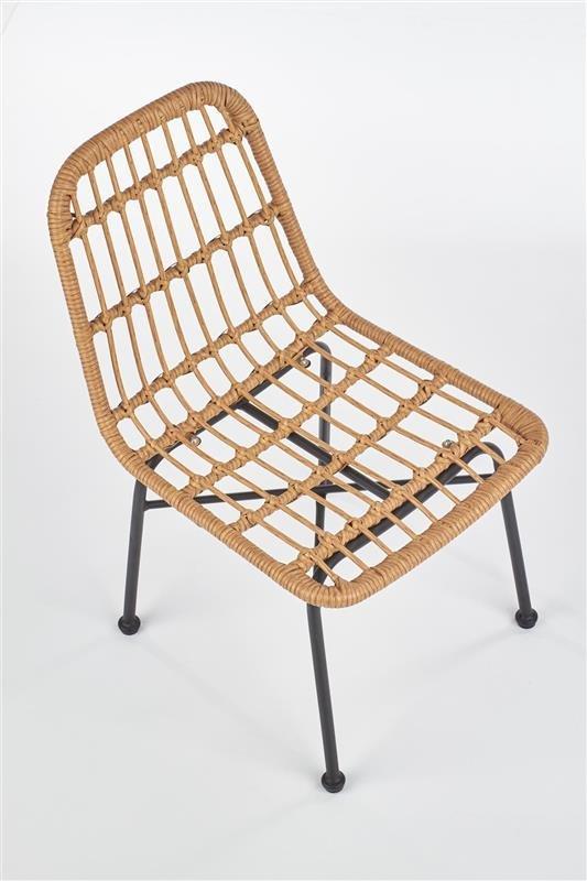 Ogrodowe krzesło rattanowe na taras i balkon w kolorze naturalnym