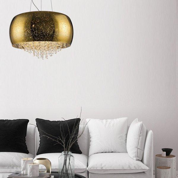nowoczesna złota lampa wisząca do solanu