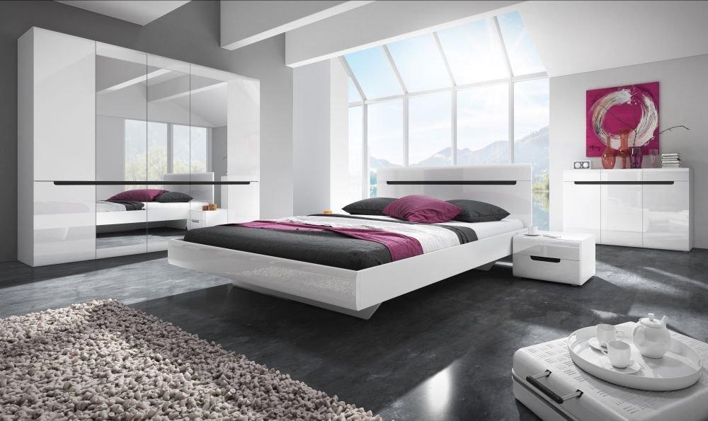 Białe designerskie łoże Hektor do nowoczesnej sypialni