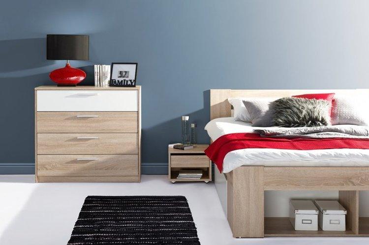 Młodzieżowe łóżko Milo z szufladami