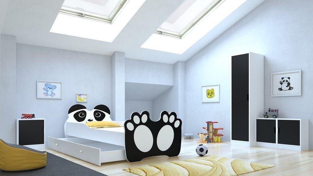 Łóżko do pokoju dziecięcego w kształcie Pandy
