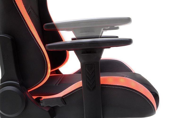 Profesjonalny fotel kubełkowy dla gracza MC Racing z podświetleniem LED
