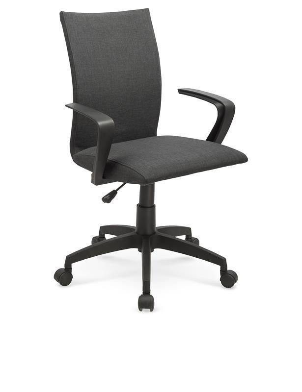 ergonomiczny fotel biurowy z czarnym oparciem