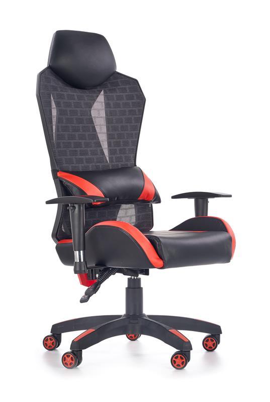 Regulowany fotel obrotowy do biura z poduszką na plecy
