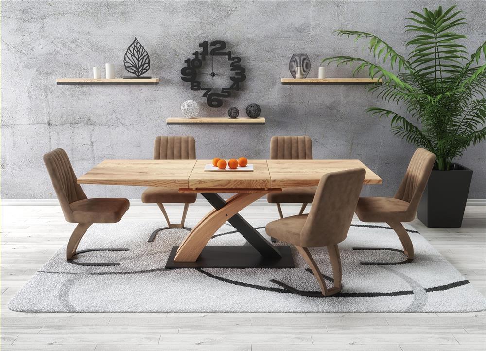 nowoczesny stół rozkładany Colin w kolorze dąb złoty
