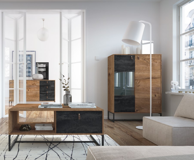 Kolekcja industrialnych mebli salonowych Image