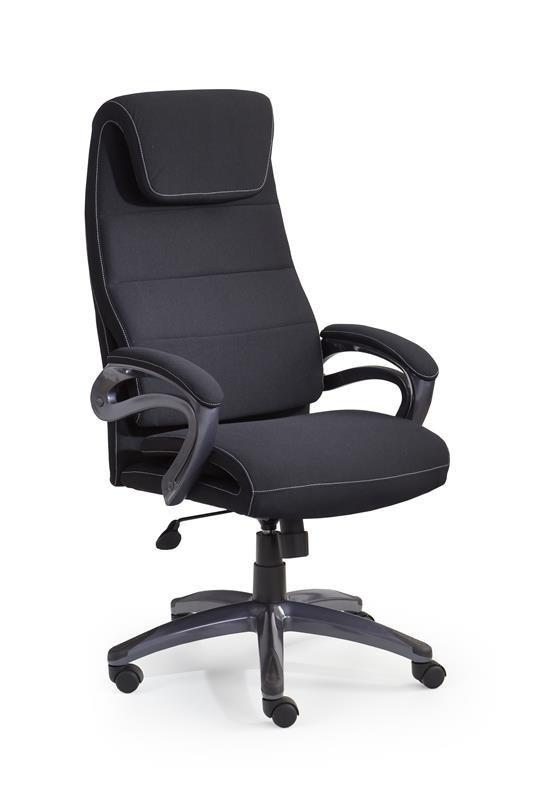 Czarny fotel biurowy z wygodnym siedziskiem