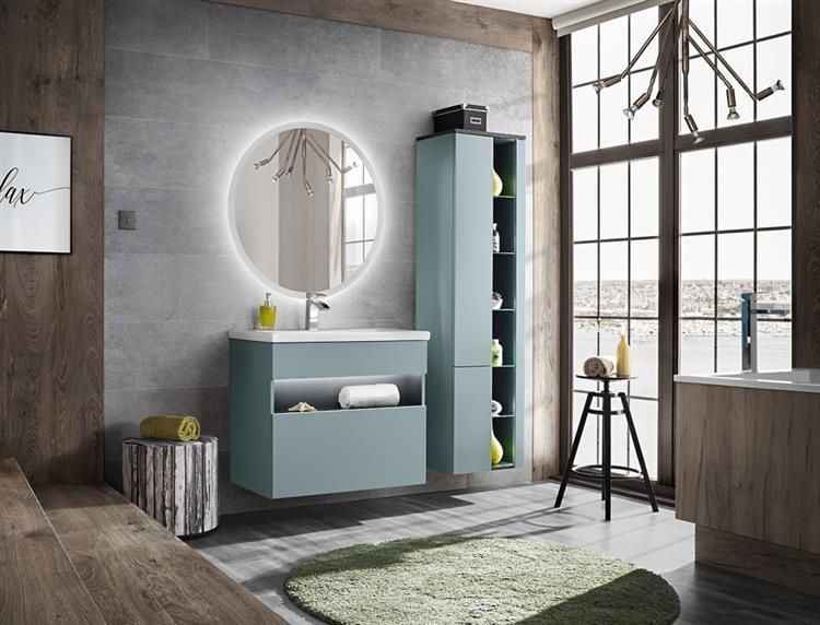 Nowoczesny zestaw mebli łazienkowych Inagua-Mint