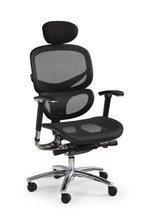 Biurowy fotel do biura z regulowanymi podłokietnikami